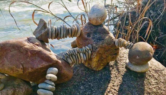 Llano Earth Art Fest Defies Gravity: World Rock Stacking Championship