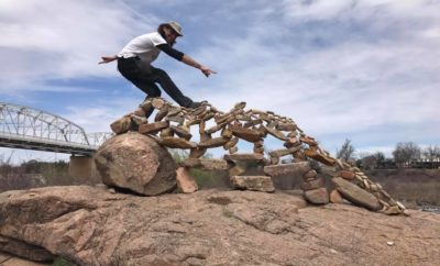 Llano Earth Art Fest Defies Gravity: World Rock Stacking Championship