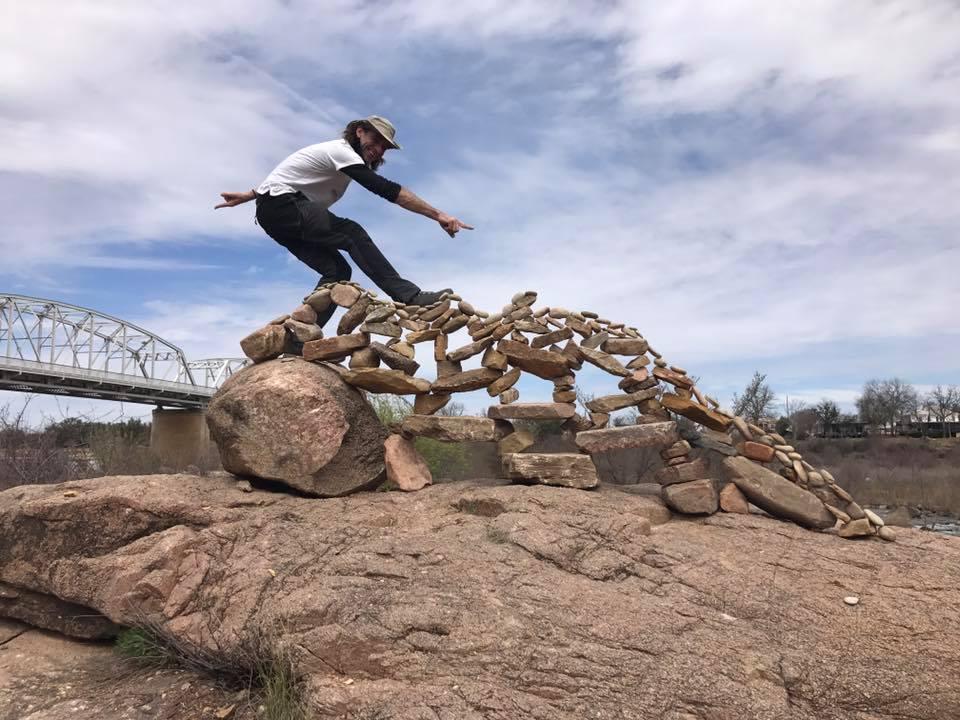 Llano Earth Art Fest Defies Gravity World Rock Stacking Championship