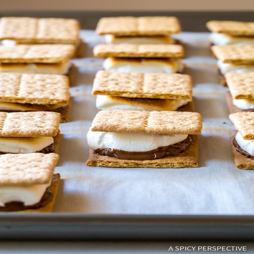 s'mores on a pan