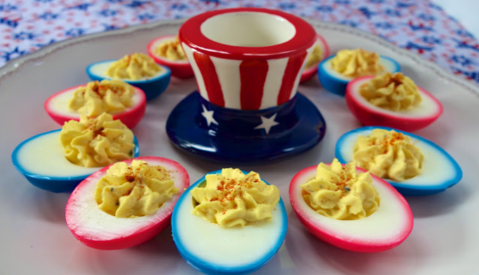 4th of July deviled eggs