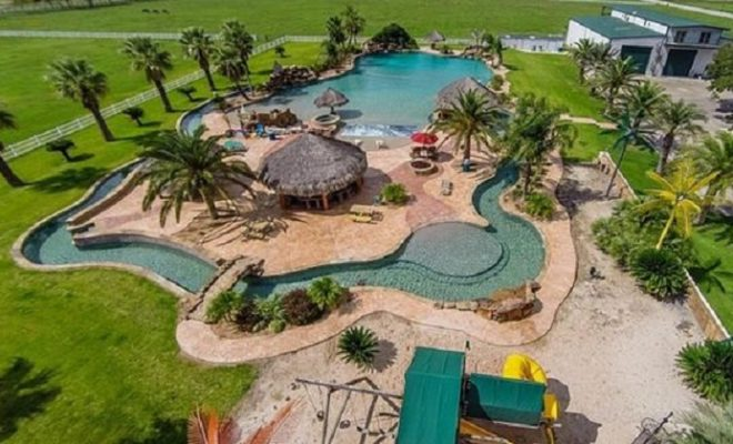 Texas 500 Foot Lazy River For Sale Comes With House