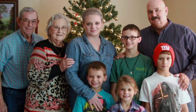 four generation family photo