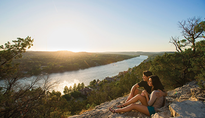 Couple at Mount Bonnell