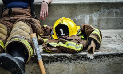 Firefighter Training - Taking a break