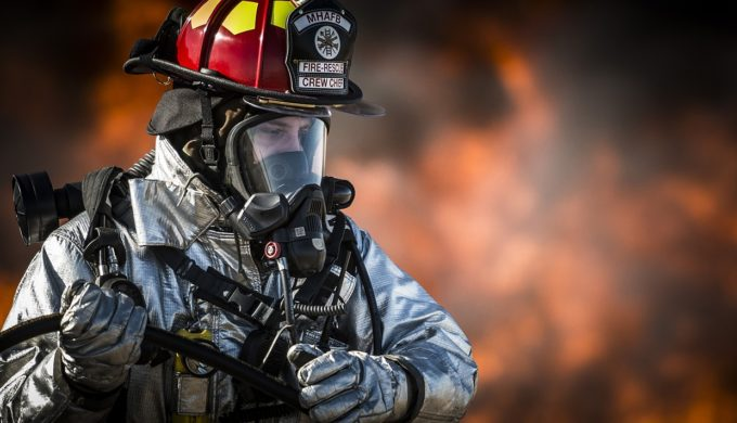 Firefighter in SCBA