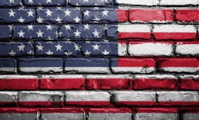 Brick flag Independence Day