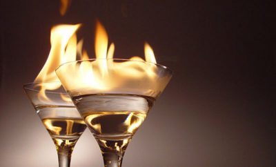 A couple visiting the Shoal Creek Tavern in Dallas were severely burned and hospitalized after a flaming drink spilled on them.