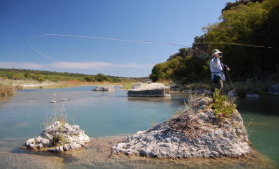 Fly fishing on Llano River