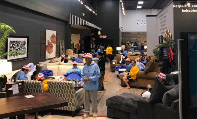 Gallery Furniture Becomes Shelter For Houstonians During Harvey