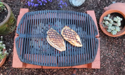 Quick & Dirty Brick Grill Tutorial Great for Camping During Fire-Restrictions