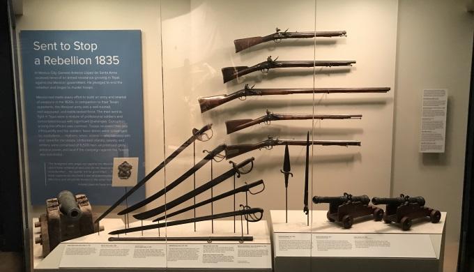 Bob Bullock Museum exhibit on weapons
