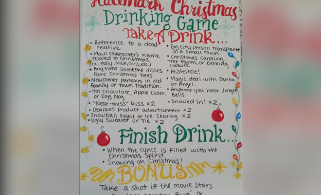 Texas Woman Creates Rules to Hallmark Holiday Movie Drinking Game