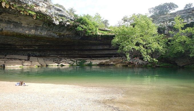 Calm waters of Hamilton Pool
