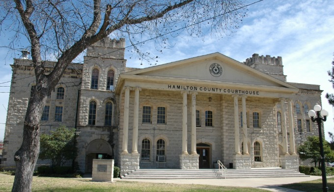 hamilton, texas, courthouse, historical, history, hill country