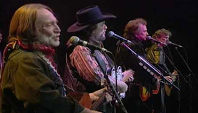 See The Highwaymen S Epic Performance Of Desperados Waiting For A Train