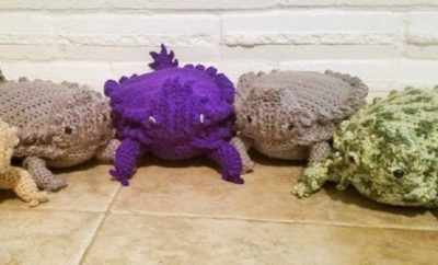 Can You Crochet? Make a Texas Horned Lizard as a Cute Gift