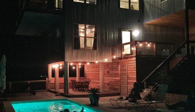 Pool at SKYHOUSE at Night
