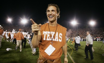 Matthew McConaughey at the 91st Rose Bowl