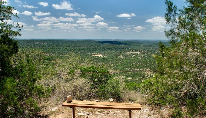Scenic view of hilltop at Hill Country State Natural Area