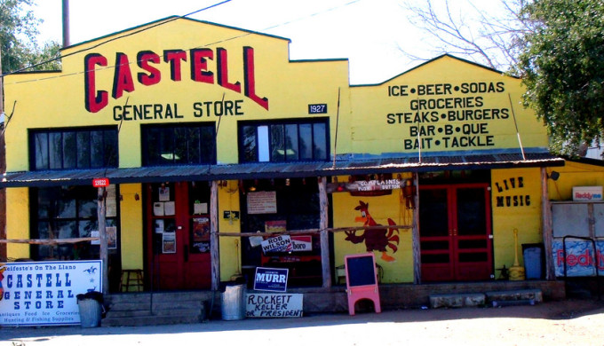 View of Castell General Store storefront