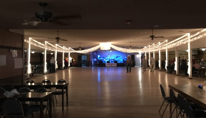 Gleaming dance floor!