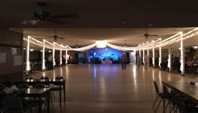 Gleaming dance floor!