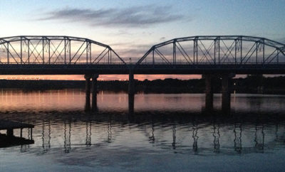 Inks lake bridge in the dusk