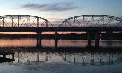 Inks lake bridge in the dusk