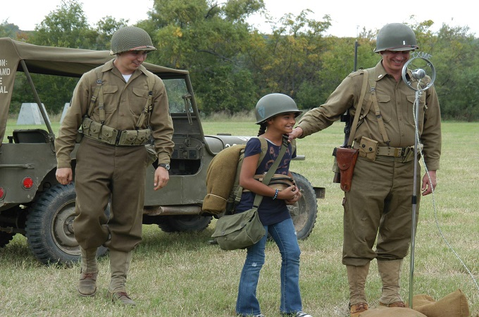 Interaction with children through the Texas Military Forces Museum