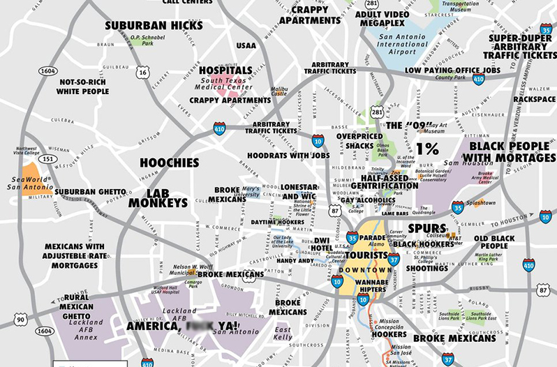 Map Of Texas San Antonio.Judgmental Map Of San Antonio Goes Viral Creator Speaks Out
