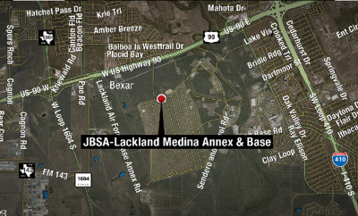 Lackland AFB Shooting Location