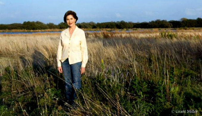 Laura Bush, Legacy Plaza, Botanical Gardens, Goldthwaite, Hill Country