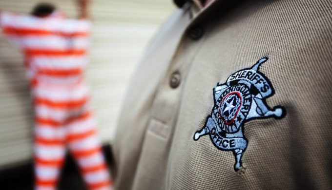 Montgomery County Sheriff's Dept logo on shirt ambushed