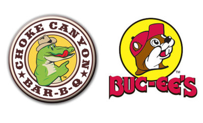 Buc-ee's and Choke logos