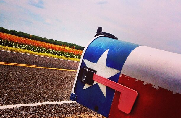 Caussey's Corner: Mailbox On a West Texas Dirt Road