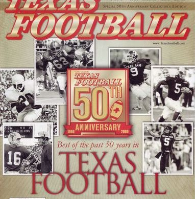 Dave Campbell's Texas Football 50th Anniversary Cover