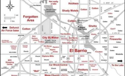 The Judgmental Map of Lubbock, Texas: Hilarious or Too Outrageous?