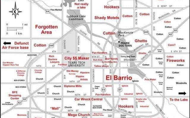 Map Of Lubbock Tx The Judgmental Map of Lubbock, Texas: Hilarious or Too Outrageous?