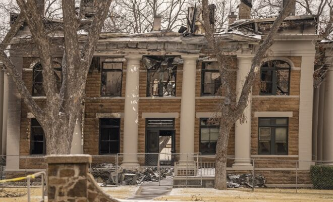 Historic Courthouse Burned: Mason County Courthouse Destroyed in Fire