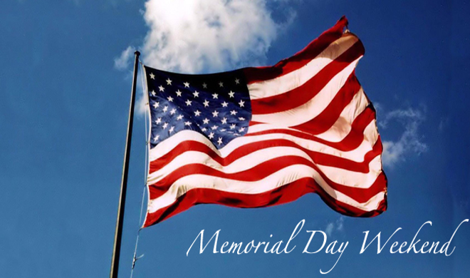American Flag flying in honor of Memorial Day