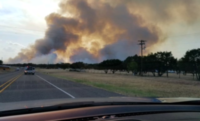 Raging Wildfire Sparks Evacuation of Inks Lake State Park, Hatchery, and Area Residents