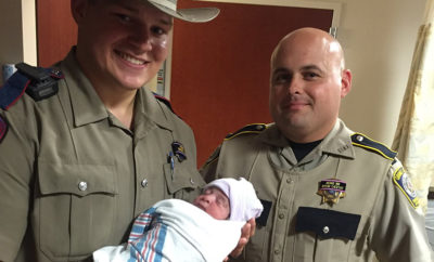 officers deliver baby