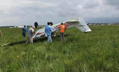 Small Plane Flipped Upside-Down at a Houston-Area Airport