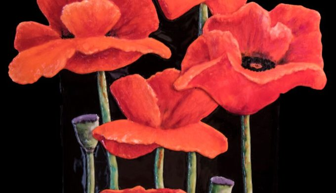Artist Nancy Yarbrough's Fused Glass & Watercolor World