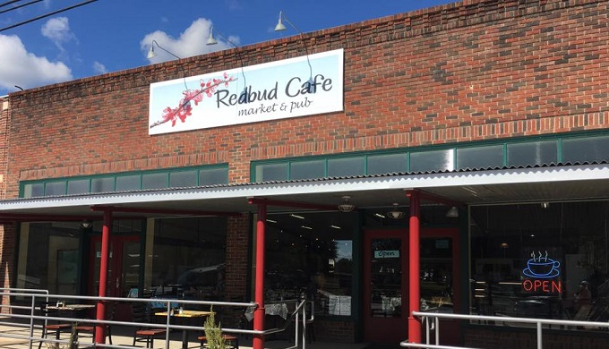 Front of Redbud Cafe as an iconic cafe