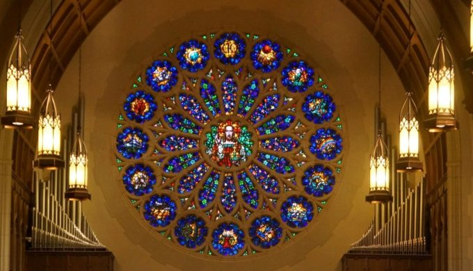 One of the World's Largest Stained-glass Rose Windows is in West Texas