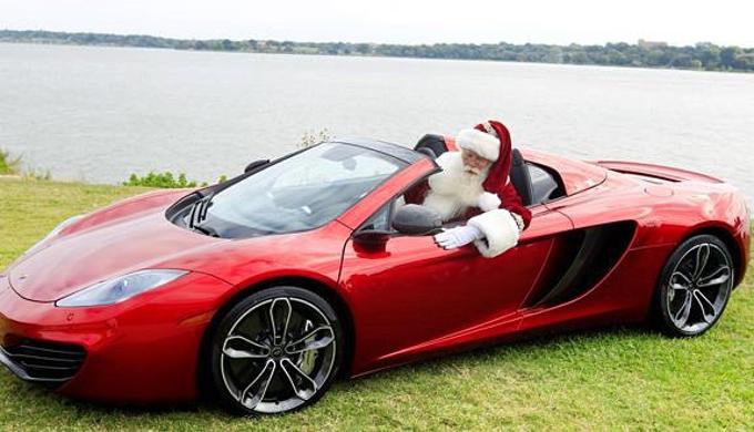 Santa Rides Into The Texas Hill Country