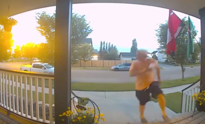 Man Runs to His Porch Just in Time to Avoid a Pack of Unlikely Animals