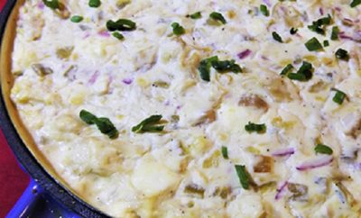 Smoked Chicken Green Chile Dip Wins the Potluck Popularity Contest!